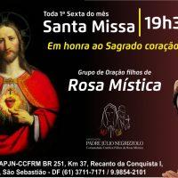 Participe da Santa Missa em honra ao Sagrado Coração de Jesus
