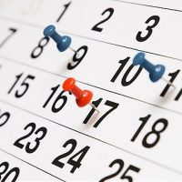 Confira nosso calendário de atividades 2019
